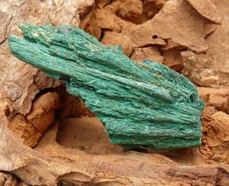 Malachite with Dioptase from Tsumeb, Namibia (€ 3.00)