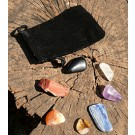 Chakra stone set in pouch for men (€ 9.50)