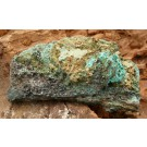 Chrysocolla with Malachite on Goethite from Tsumeb, Namibia (€ 2.00)