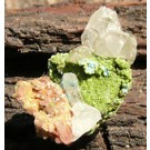 Mottramite with Aurichalcite, Cerussite and Duftite (€ 3.00)