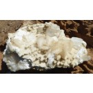 Stilbite, Heulandite and Apophylliet on Chalcedony von Namibia (€ 8.00)
